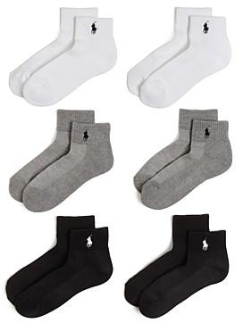Ralph Lauren Polo Sport Quarter Pony Socks, Set of 6