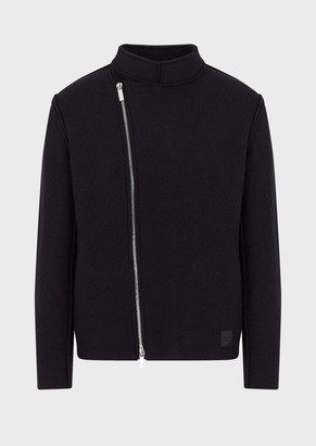 Emporio Armani Boiled Wool Blouson With Off-Centre Zip