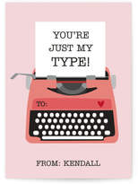 Minted Just My Type Classroom Valentine's Day Cards