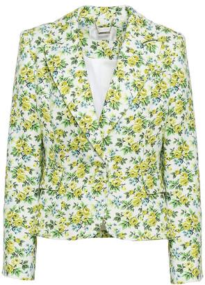 Zimmermann Floral-print Linen Blazer