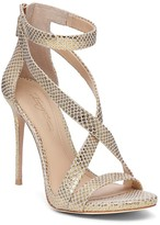 Imagine VINCE CAMUTO Devin Snake Embossed High Heel Ankle Strap Sandals