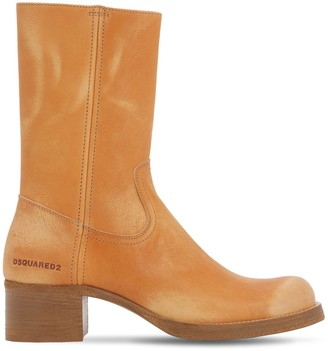 DSQUARED2 VINTAGE LEATHER WORK BOOTS