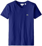 Lacoste Kids S/S Classic Jersey V-Neck Tee (Toddler/Little Kids/Big Kids)