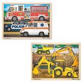 Melissa & Doug Jigsaw Bundle Construction and Rescue