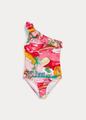Ralph Lauren Lobster One-Piece Swimsuit