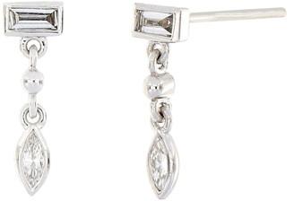 Bony Levy 18K White Gold Mixed Shape Diamond Drop Earrings - 0.21 ctw