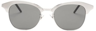 Saint Laurent D-frame Metal And Acetate Sunglasses - Grey