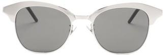 Saint Laurent D-frame Metal And Acetate Sunglasses - Mens - Grey
