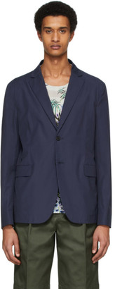 Acne Studios Blue Poplin Suit Blazer