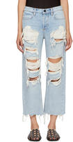 Alexander Wang Blue Distressed Rival Jeans