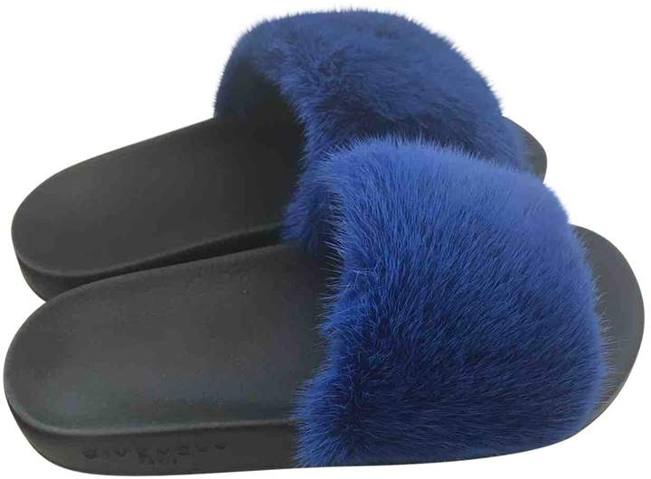 Givenchy Blue Rubber Sandals