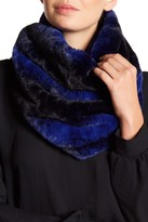 David & Young Two-Tone Faux Fur Infinity Scarf