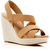 Splendid Dallis Snake-Embossed Platform Wedge Sandals