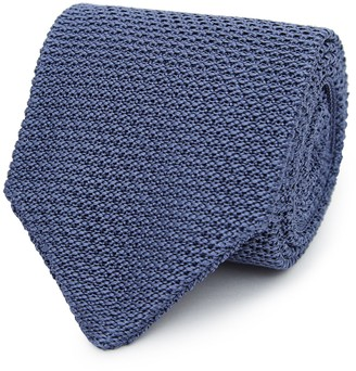 Reiss JACKSON SILK KNITTED TIE Airforce Blue