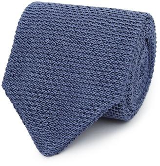 Reiss Jackson - Silk Knitted Tie in Airforce Blue