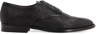Silvano Sassetti 25mm Woven Leather Lace-Up Shoes
