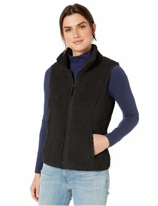 Amazon Essentials Polar Fleece Lined Sherpa Vest Black S