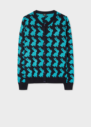 Paul Smith Women's Rabbit Jacquard Cotton-Rayon Cardigan