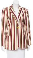 Loro Piana Striped Notch-Lapel Blazer