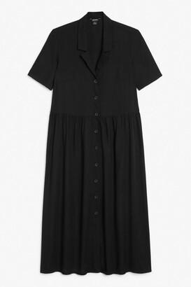 Monki Midi button-up shirt dress