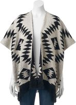 Mudd Tribal Knit Fringed Vest