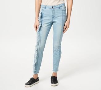 Women With Control My Wonder Denim Petite Jeans w/ Fray Detail