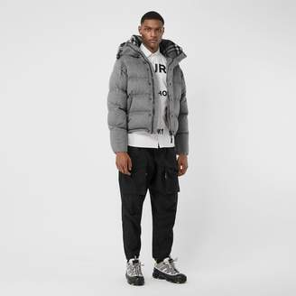 Burberry Detachable Sleeve Cashmere Hooded Puffer Jacket