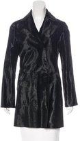 Alberta Ferretti Ponyhair Reversible Coat