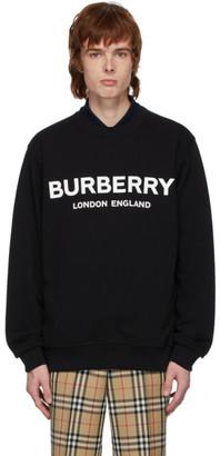 Burberry Black Logo Lanslow Sweatshirt
