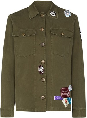 Golden Goose Angiolina patch badge army jacket