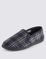 M&s Collection Checked Slippers With Thinsulatetm