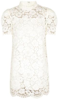 Marc Jacobs Ivory embellished lace mini dress