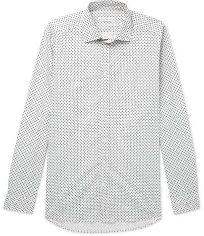 Etro Slim-Fit Paisley-Print Stretch-Cotton Poplin Shirt