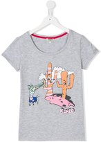 Kenzo Dancing Cactus printed T-shirt - kids - Cotton/Spandex/Elastane - 14 yrs