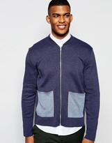 Asos Knitted Jacket With Contrast Pocket