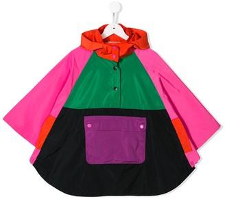 Stella McCartney colour block rain jacket