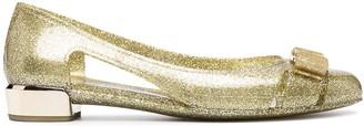 Salvatore Ferragamo glitter Vara bow ballerina shoes