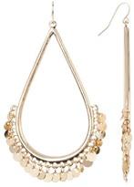 Natasha Accessories Disc Fringe Teardrop Earrings