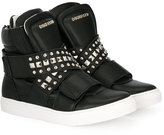 DSQUARED2 Teen studded hi-top sneakers