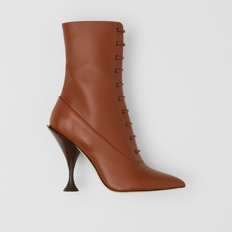 Burberry Lambskin Lace-up Ankle Boots