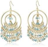 Carolee The Blue Line Gypsy Hoop Pierced Earrings