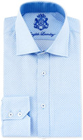 English Laundry Mini-Check Long-Sleeve Dress Shirt, Blue