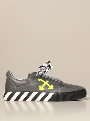 Off-White Low Vulcanized Off White Sneakers In Leather With Arrows