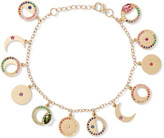 Andrea Fohrman Phases Of The Moon 14-karat Gold Multi-stone Charm Bracelet - one size