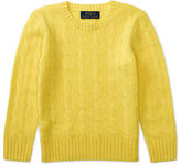 Ralph Lauren 2-7 Cable-Knit Cashmere Sweater