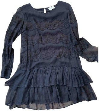 Essentiel Antwerp Black Silk Dress for Women