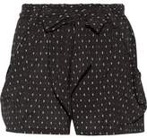 Hatch Stroll Printed Stretch-Crepe Shorts