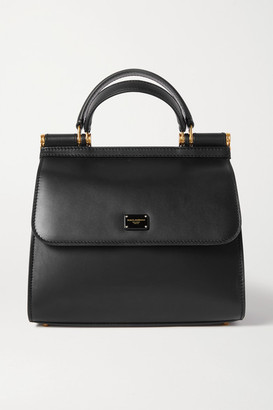 Dolce & Gabbana Sicily 58 Small Leather Tote - Black