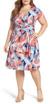 Leota Plus Size Women's Perfect Faux Wrap Dress