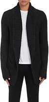 Zadig et Voltaire ZADIG ET VOLTAIRE MEN'S MITCH ACL CHUNKY STOCKINETTE-STITCHED CARDIGAN-BLACK SIZE L